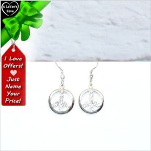 Jewelry - Crystal Peace Sign Earrings ~cd40s0sc4